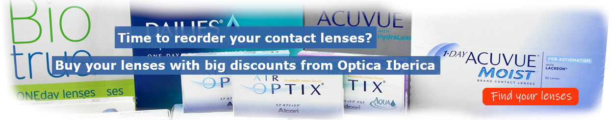 Buy your contact lenses on-line with big discounts from Optica Iberica