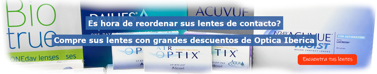Compre sus lentes de contacto en linea con grandes descuentos de Optica Iberica