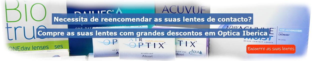 Compre as suas lentes de contacto on-line com grandes descontos em Optica Iberica