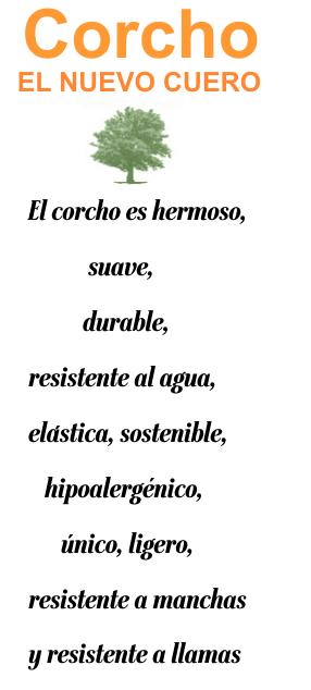 Corcho - El nuevo cuero. El corcho es hermoso, suave, durable, resistente al agua, elástica, sostenible, hipoalergénico, único, ligero, resistente a manchas, resistente a llamas.